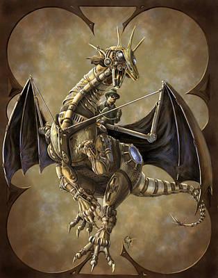 Clockwork Dragon Poster by Rob Carlos