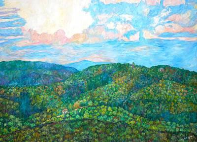 Cloud Dance On The Blue Ridge Poster by Kendall Kessler