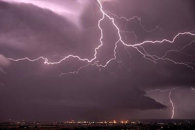 Cloud Lightning Poster by Leland D Howard