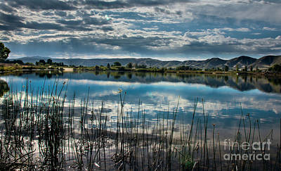 Cloud Reflections Poster by Robert Bales