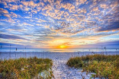 Clouds At Dawn Poster by Debra and Dave Vanderlaan