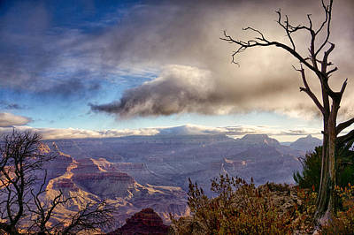 Clouds Over Canyon Poster by Lisa  Spencer