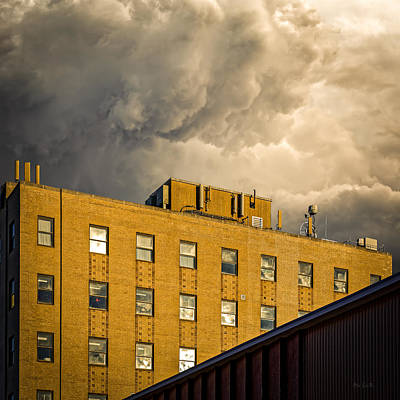 Clouds With Building Poster by Bob Orsillo