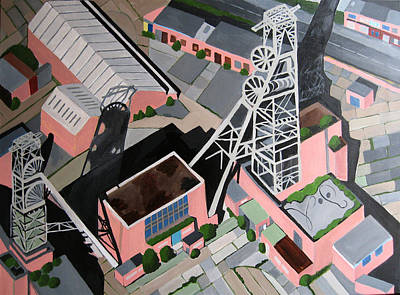 Coal Mine Tower Poster by Toni Silber-Delerive