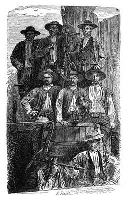 Coal Miners Poster by Science Photo Library