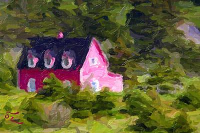 Coastal Farmhouse Poster by Patsy Zedar