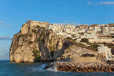 Coastal Village Of Peschici Poster by Peter Adams