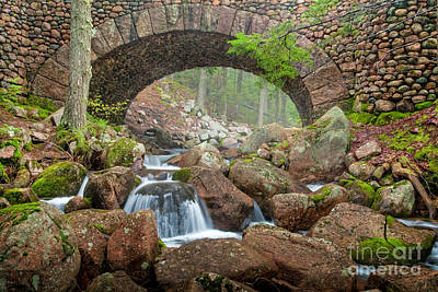 Cobblestone Bridge In Acadia Poster by Susan Cole Kelly