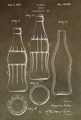 Coca Cola Bottle Patent Poster by Dan Sproul