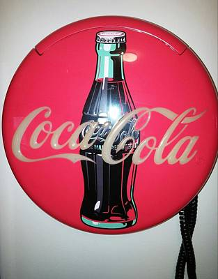 Coca Cola Wall Phone Poster by Earnestine Clay