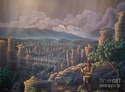 Cochise Head Poster by Jerry Bokowski