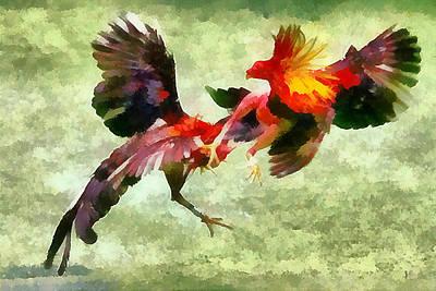 Cockfight - Pelea De Gallos Poster by Riccardo Zullian
