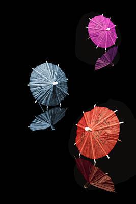 Cocktail Umbrellas Xi Poster by Tom Mc Nemar