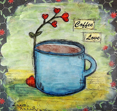 Coffee Love Poster by Lauretta Curtis