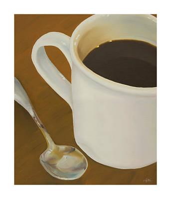 Coffee Mug And Spoon Poster by Craig Tinder