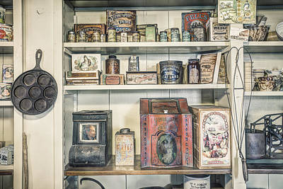 Coffee Tobacco And Spice - On The Shelves At A 19th Century General Store Poster by Gary Heller
