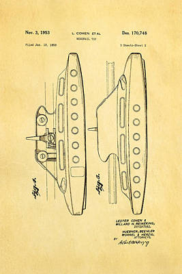 Cohen Monorail Toy 2 Patent Art 1953 Poster by Ian Monk