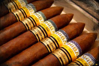 Cohiba Cigar Painting Poster by Tony Rubino