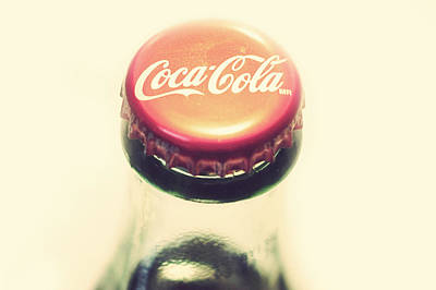 Coke Bottle Cap Poster by Terry DeLuco