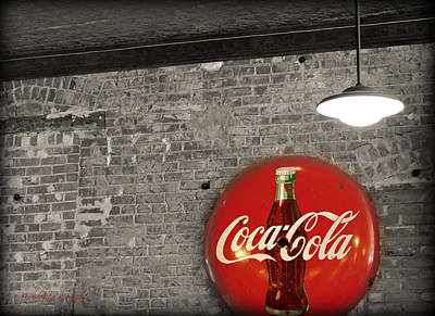 Coke Cola Sign Poster by Paulette B Wright