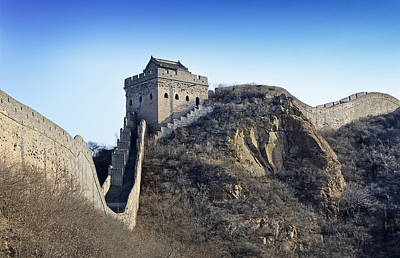 Cold Day On The Great Wall Of China Poster by Brendan Reals