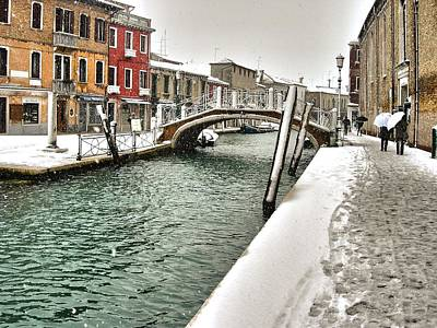 Poster featuring the photograph Cold Winter In Venice by Thierry Bouriat