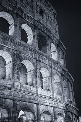 Colosseum Before Dawn Poster by Joan Carroll