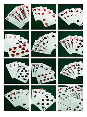 Collage Poker Hands 1 Poster by Alexander Senin