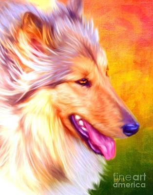 Collie Art Poster by Iain McDonald