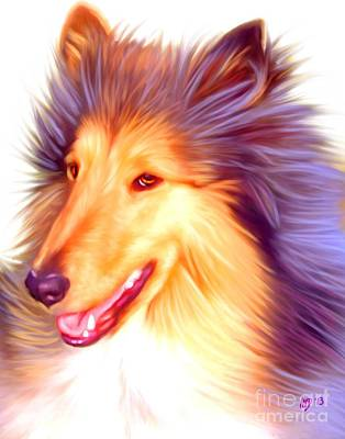 Collie Art Work Poster by Iain McDonald