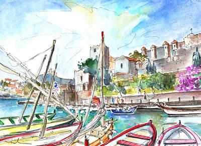 Collioure Harbour 01 Poster by Miki De Goodaboom
