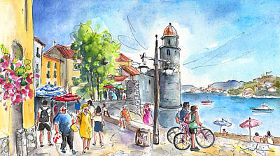 Collioure Town 01 Poster by Miki De Goodaboom