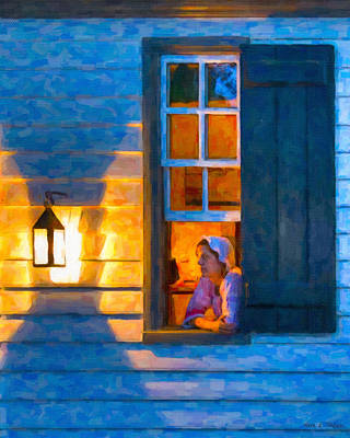Colonial Williamsburg By Night Poster by Mark E Tisdale