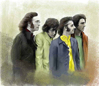 Color White The Beatles Poster by Iconic Images Art Gallery David Pucciarelli