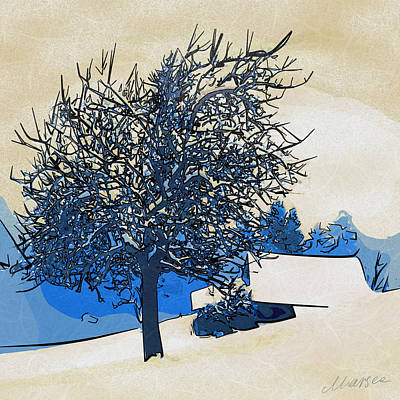 Color Of Winter Poster by Marina Likholat