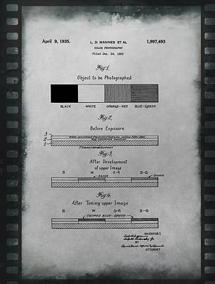Color Photography Patent On Film Poster by Dan Sproul