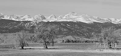 Colorado Front Range Continental Divide Panorama Bw Poster by James BO  Insogna