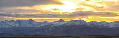 Colorado Front Range Panorama Gold Poster by James BO  Insogna