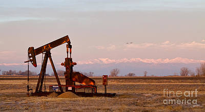 Colorado Oil Well Panorama Poster by James BO  Insogna