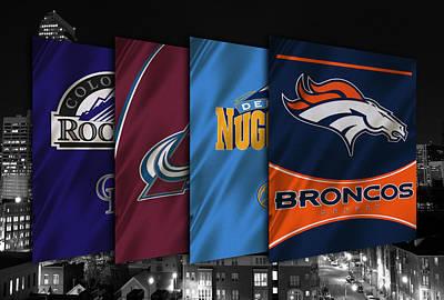 Colorado Sports Teams Poster by Joe Hamilton