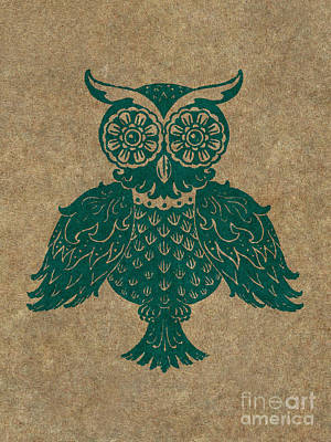 Colored Owl 4 Of 4  Poster by Kyle Wood