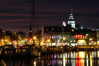 Colorful Annapolis Evening Poster by Jennifer Casey
