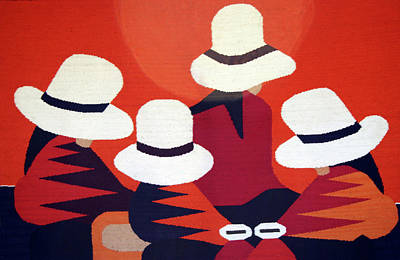 Colorful Blanket Picturing Indigenous Poster by Miva Stock