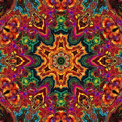 Colorful Enamel Snowflake Poster by Lilia D
