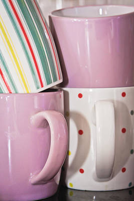 Colorful Mugs Poster by Tom Gowanlock