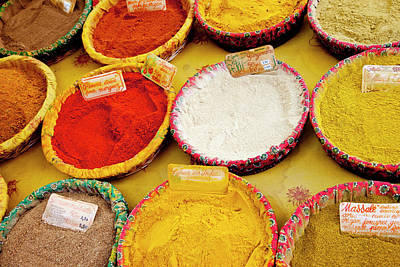 Colorful Spices For Sale At The Market Poster by Brian Jannsen