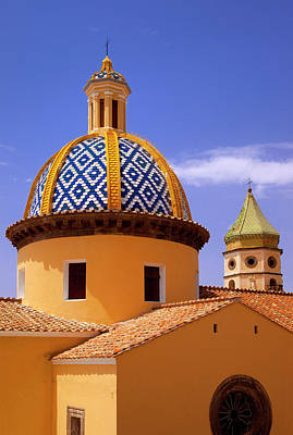 Colorful Tiled Dome Of Chiesa San Poster by Brian Jannsen