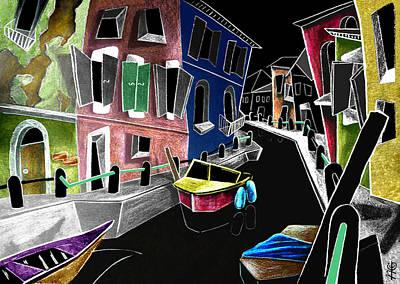 Colori Di Burano - Fine Art Venice Canal Paintings Italy Poster by Arte Venezia