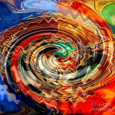 Colors And Creativity Abstract Poster by Carol Groenen