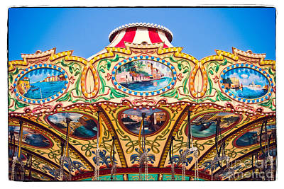 Colors Of A Carousel Poster by Colleen Kammerer